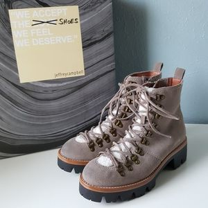 NEW Jeffrey Campbell Stanley Boots Combat Hiking 8